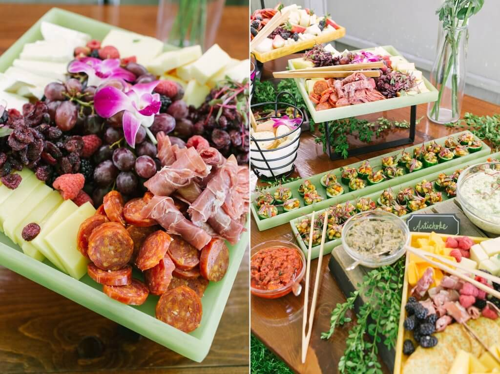 christie caters charcuterie board display