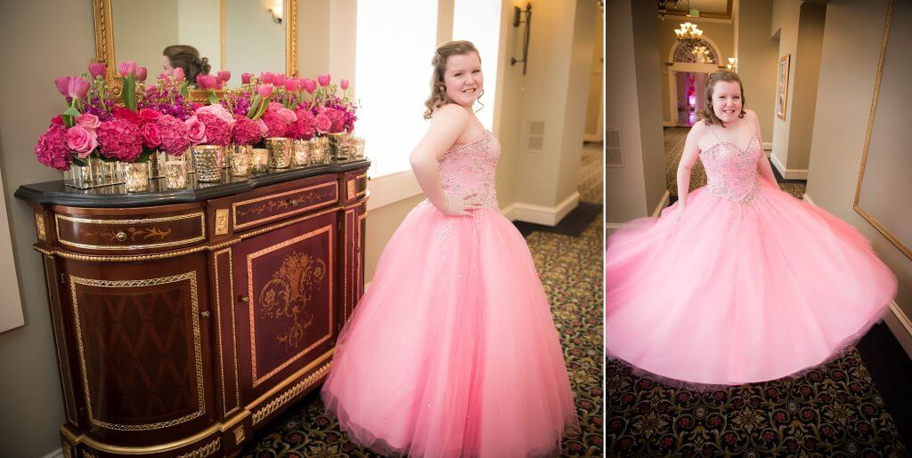 amazingcelebrationsllc.com pink and gold flowers bat mitzvah