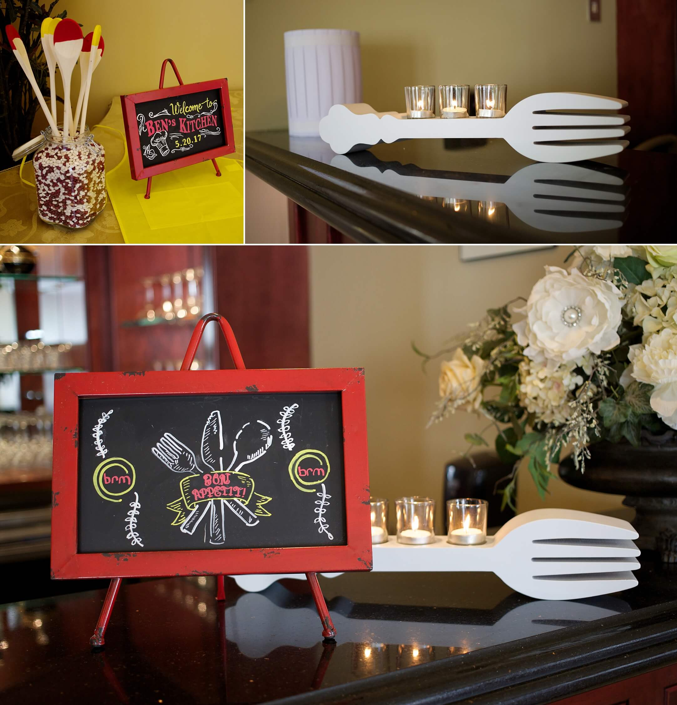 CT Bar Mitzvah Planner and Event Decor Riverview Simsbury Master Chef Junior cooking theme chalk signs