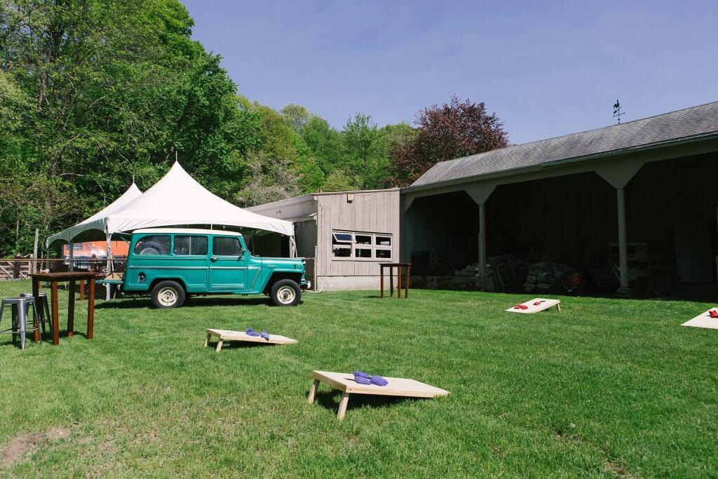 yard game corn hole for wedding setup tent rental company connecticut