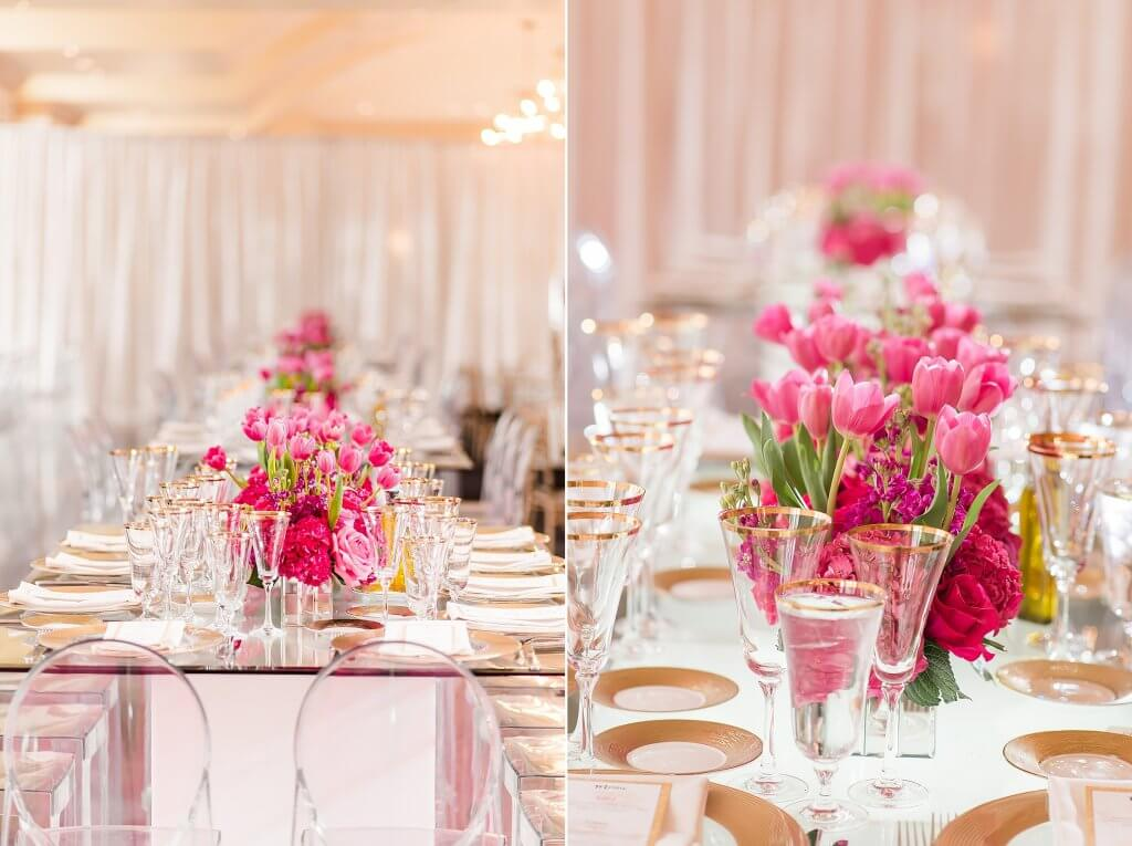 amazingcelebrationsllc.com tulips roses and peony table decor with glass tabletop